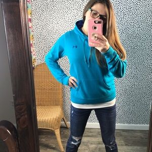 Under armour blue hoodie size small